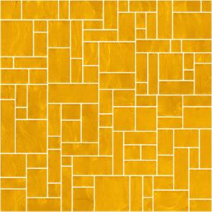 Pastilhas Rivesti Geométrico Amarelo Ipê 33 x 33 cm
