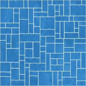 Pastilhas Rivesti Geométrico Azul Candombá 33 x 33 cm