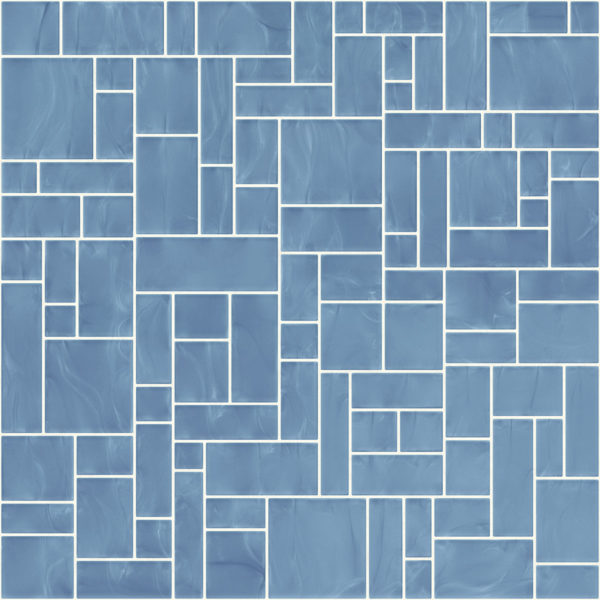 Pastilhas Rivesti Geométrico Azul Imburana 33 x 33 cm