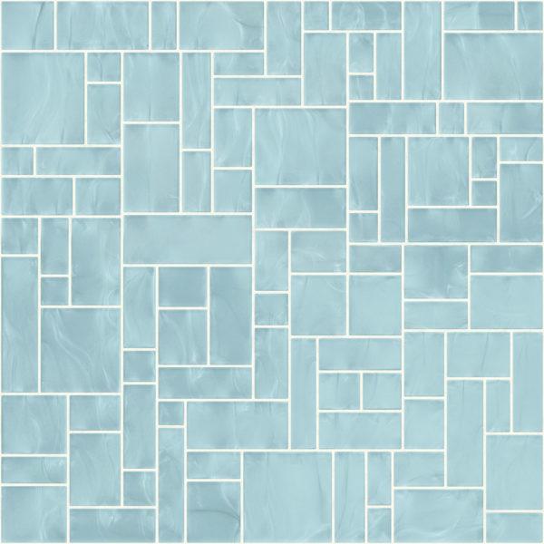 Pastilhas Rivesti Geométrico Azul Íris da Praia 33 x 33 cm