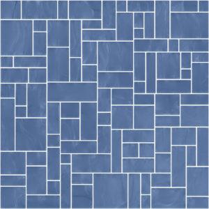 Pastilhas Rivesti Geométrico Azul Sucupira 33 x 33 cm