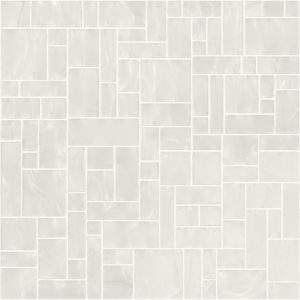 Pastilhas Rivesti Geométrico Branco Jarina 33 x 33 cm