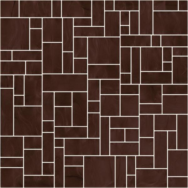 Pastilhas Rivesti Geométrico Cobre Cumaru 33 x 33 cm