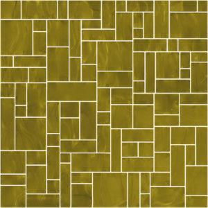 Pastilhas Rivesti Geométrico Dourado Mogno 33 x 33 cm