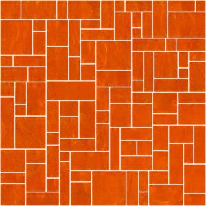 Pastilhas Rivesti Geométrico Laranja Camapu 33 x 33 cm