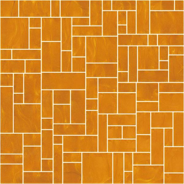 Pastilhas Rivesti Geométrico Laranja Cambucá 33 x 33 cm