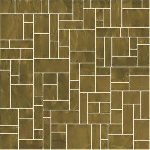 Pastilhas Rivesti Geométrico Marrom Imbuia 33 x 33 cm