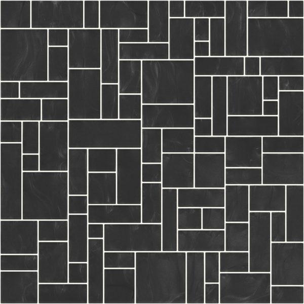Pastilhas Rivesti Geométrico Preto Sumaúma 33 x 33 cm