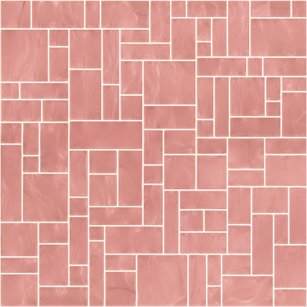 Pastilhas Rivesti Geométrico Rosa Embaúba 33 x 33 cm