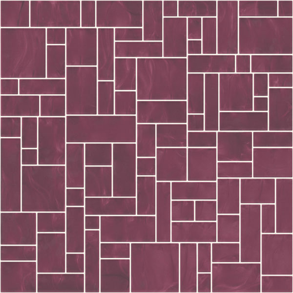 Pastilhas Rivesti Geométrico Roxo Araçá 33 x 33 cm