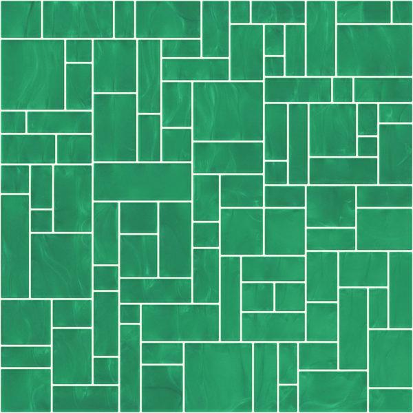 Pastilhas Rivesti Geométrico Verde Jatobá 33 x 33 cm