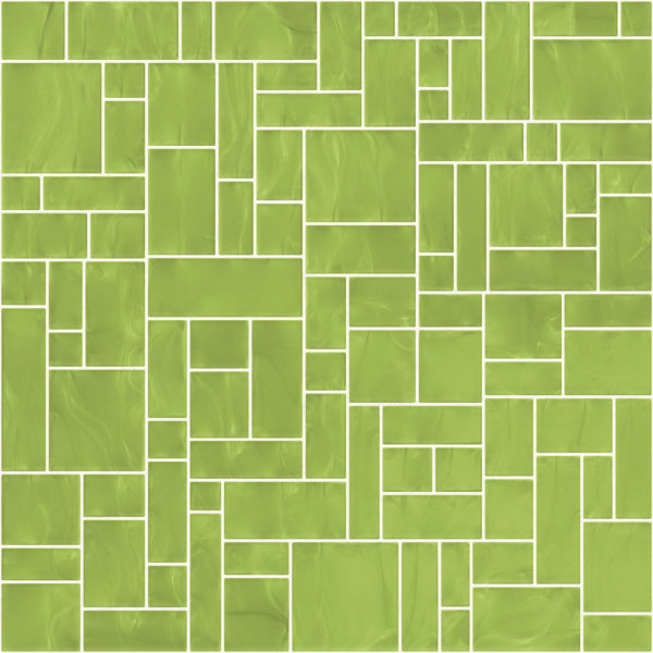 Pastilhas Rivesti Geométrico Verde Mandacaru 33 x 33 cm