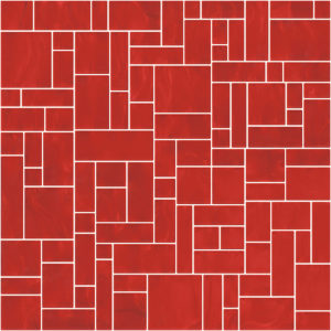 Pastilhas Rivesti Geométrico Vermelho Urucum 33 x 33 cm