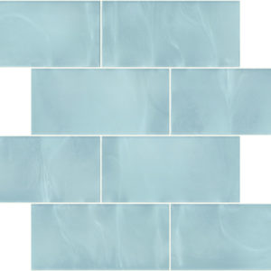 Pastilhas Rivesti Subway Azul Íris da Praia 38,5 x 30,5 cm