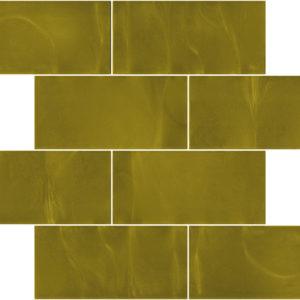 Pastilhas Rivesti Subway Dourado Mogno 38,5 x 30,5 cm