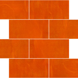 Pastilhas Rivesti Subway Laranja Camapu 38,5 x 30,5 cm