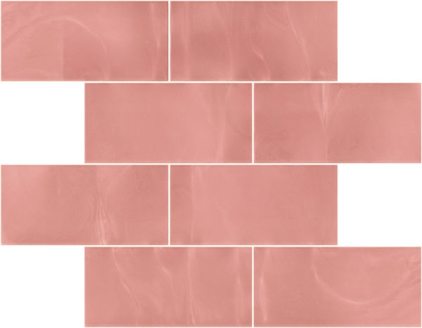 Pastilhas Rivesti Subway Rosa Embaúba 38,5 x 30,5 cm