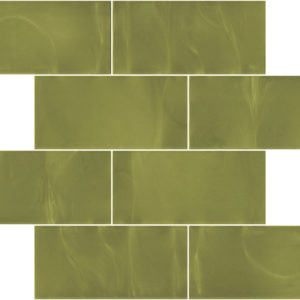 Pastilhas Rivesti Subway Verde Palma 38,5 x 30,5 cm