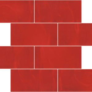 Pastilhas Rivesti Subway Vermelho Urucum 38,5 x 30,5 cm