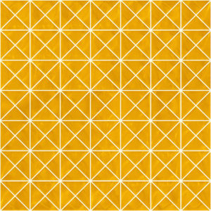 Pastilhas Rivesti Triangular Amarelo Ipê 33 x 33 cm