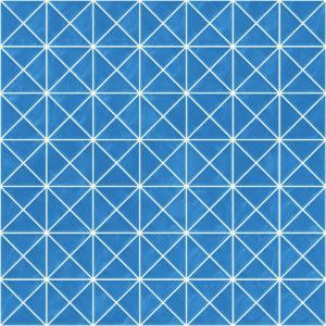 Pastilhas Rivesti Triangular Azul Candombá 33 x 33 cm