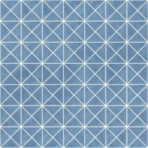 Pastilhas Rivesti Triangular Azul Imburana 33 x 33 cm