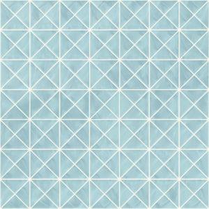Pastilhas Rivesti Triangular Azul Íris da Praia 33 x 33 cm
