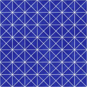Pastilhas Rivesti Triangular Azul Manacá 33 x 33 cm