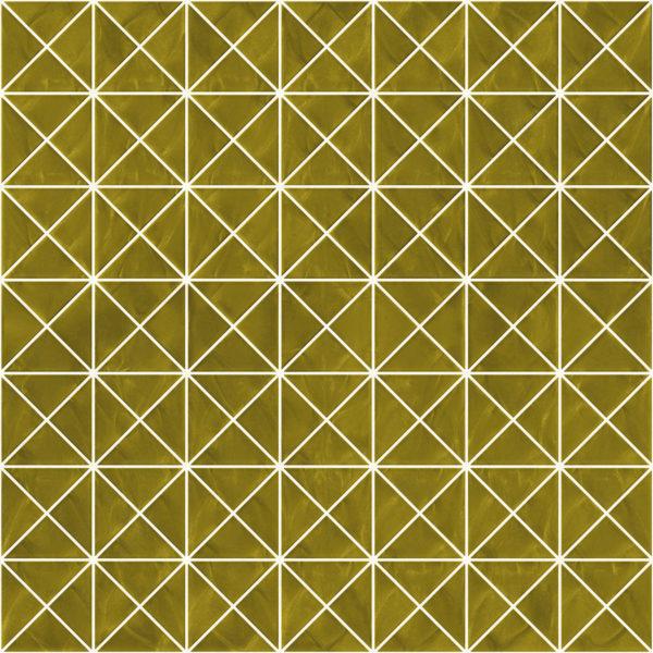 Pastilhas Rivesti Triangular Dourado Mogno 33 x 33 cm