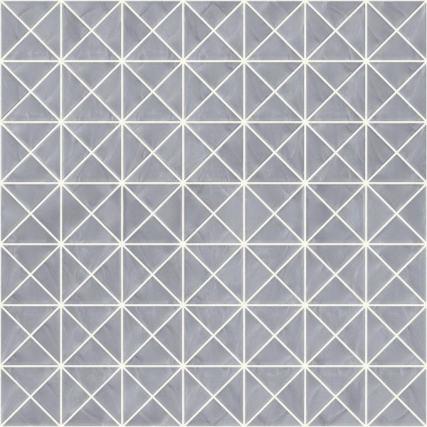 Pastilhas Rivesti Triangular Prata Itaúba 33 x 33 cm