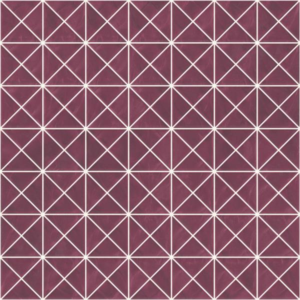 Pastilhas Rivesti Triangular Roxo Araçá 33 x 33 cm