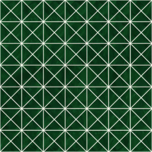 Pastilhas Rivesti Triangular Verde Jequitibá 33 x 33 cm