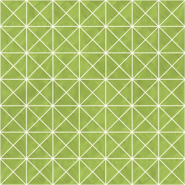 Pastilhas Rivesti Triangular Verde Mandacaru 33 x 33 cm