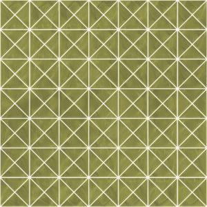 Pastilhas Rivesti Triangular Verde Palma 33 x 33 cm