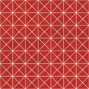 Pastilhas Rivesti Triangular Vermelho Urucum 33 x 33 cm